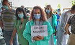 """Медици и пациенти на """"Пирогов"""" протестираха пред президентството"""