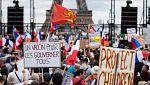 Протести против ваксините срещу коронавирус в Париж