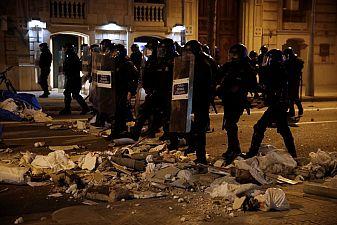 Насилие на протестите в Каталуния