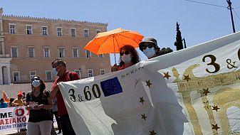 Масови протести в Гърция, блокиран е транспортът